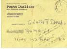 Poste Italiane -avviso Di Ricevuta  Solo Con Bollo 1996-modello 1994 - 1991-00: Storia Postale