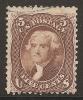Etats-Unis (USA) 1863 - 5c Brun Jefferson - Sc#76 Cote 150$ - Oblitérés