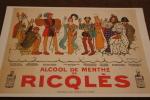 """CPM """"Alccol De Menthe Ricqlès Alcool Boisson Repro D´une Affiche De Barrère 1910 Charlemagne  Napoléon Henry IV Louis - Publicidad"""