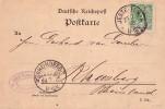 DR Karte EF Minr.46 Ankunftsst. KOS Rheinberg (Rheinland) 24.7.95 - Deutschland
