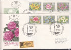 FLOWERS - AUSTRIA - 1964 GARDEN FLORA SET OF 6 ON 2 REG FDC TO VIENNA - Végétaux