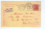 838/17 -  BELGIQUE JEUX OLYMPIQUES Anvers 1920 - Entier Postal Albert Casqué Cachet Mécanique Des Jeux - Summer 1920: Antwerp
