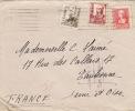 4324# CENSURA MILITAR SAN SEBASTIAN 1938 ESPANA EAUBONNE SEINE ET OISE ESPAGNE - Marcas De Censura Nacional