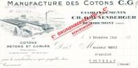 """- REMIREMONT - Manufacture Des Cotons - Etablissements Grunenberger - Marques """" Le Cor De Chasse """" - Textile & Vestimentaire"""