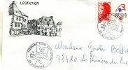 Enveloppe Timbrée De La 1ere Foire Exposition De Lesneuven 29 Le 12-4 1987 Adressé A Mme Bellet - Marcophilie (Lettres)