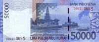 Indonesia 50000 Rupiah 2009 - UNC. P-145 - Indonésie