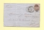 Cardiff Bute Docks - D57 -  8 Decembre 1876 Pour Bordeaux - Postmark Collection