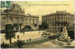 34  -  MONTPELLIER  -  PREFECTURE ET HOTEL DES POSTES ET TELEGRAPHES  -  CARTE TOILEE - Montpellier
