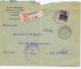 BELGIQUEE N° OC 5, On Registered Letter To The Haue Holland, Ausland Stelle Frei Gegeben Antwerpen 20-7-1915