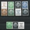 Germany  1939 Combinations Mi S171,S187mS175,S169  MH Hindenburg - Unused Stamps