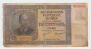 Bulgaria 500 Leva 1942 VG Banknote P 60 - Bulgarie