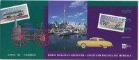 CANADA CAPEX 1996 Toronto - Advertising Sticker Leaflet -  Stickers Capex 96 Logo & Toronto Scenes - Philatelic Exhibitions