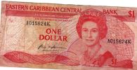 Eastern Caribbean States Curr Authority 1 $ 1988-1989 - Billets