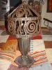 Rare Lampe Ancienne En Fer Forgé Art Deco 1930 - Lamps