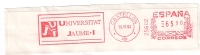 A2 Spain 1993. Machine Stamp Postmark UNIVERSITAT JAUME University CASTELLON Postmark - Machine Stamps (ATM)