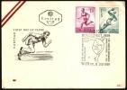 ATHLETICS - AUSTRIA VIENNA 1959 - BUNDESFEST 1959 - LO SPORT NELLA FILATELIA - DISCUS THROWER - Atletica