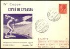 ATHLETICS - ITALIA CATANIA 1957 - IV COPPA DI ATLETICA - CARTOLINA UFFICIALE - Atletica