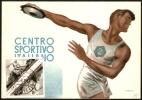 ATHLETICS - SAN MARINO 1953 - MAXIMUM SU CARTOLINA CENTRO SPORTIVO ITALIANO - DISCOBOLO - Atletica