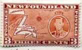 Newfoundland GVI 1937 ´Long´ Coronation 3c Orange-brown Die II P.13½ Line, Hinged Mint (A) - 1908-1947