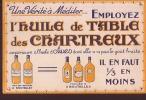 HUILE DE TABLE DES CHARTREUX.   Buvard Publicitaire. - Alimentaire