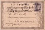 HERAULT-ROUJAN 2-4-1877 / 10c SAGE SUR CARTE PRECURSEUR. - 1877-1920: Periodo Semi Moderno