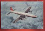 B145 Avion Transatlantic DC-6 B Swissair,petit Pli Angle.Non Circulé. Bircher - Avions