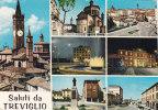 TREVIGLIO  /  Saluti Con Vedutine  -  Viaggiata - Bergamo