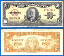 Cuba 50 Pesos 1958 Calixto Garcia Iniguez Peso Kuba Paypal Skrill Bitcoin OK! - Cuba