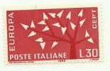 1962 - Italia 947 Europa V68 - Linea Di Colore - 6. 1946-.. Repubblica