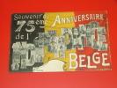Souvenir Du 75 Anniversaire De L´Indépendance Belge    -  (2 Scans ) - Koninklijke Families