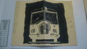 Menu Du Réveillon Du Nouvel An 1957 D'une Amicale De La RATP - Menu