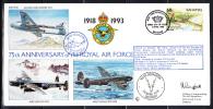 RAF 75th Anniversary FDC Bahamas Scott #775b 60c Fairey Battle No. 60 Squadron - Bahamas (1973-...)