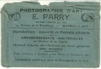 Très Ancienne POCHETTE DE PHOTOS (vide)  PHOTOGRAPHIE D'ART - E. PARRY à AURILLAC (cantal)    (20) - Matériel & Accessoires