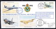 RAF 75th Anniversary FDC Bahamas Scott #774 70c English Electric Lightning No. 5 Squadron - Bahamas (1973-...)