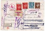 CP 80c Pétain Avec Complément Pour L'Allemagne - Etiquette Allemande De Retour à L'envoyeur - Postal Stamped Stationery