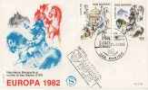 San Marino 1982. EUROPA CEPT Wonderful Issue On FDC - 1982