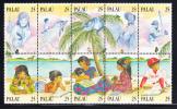 Palau Scott #220 MNH 25c Literacy Block Of 10 - Palau
