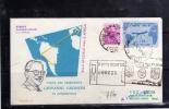 ITALIA REPUBBLICA 1961 AEROGRAMMA VISITA PRESIDENTE GRONCHI A BUENOS AIRES L. 170 - 6. 1946-.. Repubblica