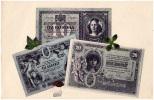 AK UNGARN Papiergeld  TIZ KORONA  HUSZ KORONA OLD POSTCARD - Banken