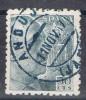 Caudillo 50 Cts Caudillo 1940, Fechador Azul ANDUJAR (jaen), Edifil Num 927 º - 1931-Today: 2nd Rep - ... Juan Carlos I