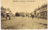 Belgium  Carte Postale Militaire  Field Post Office  A England, Verso Péruwelz Grand Place - Guerra '14-'18
