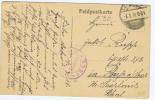 Deutschland  Feldpostbrief Postkarte, 1918, Zug 60 Stempel