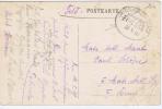 Deutschland   Bahnpost, Zug 554 Feldpostbrief Postkarte, 1918, Köningswalde,