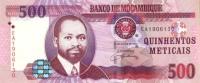 * MOZAMBIQUE - 500 METICAIS 2006 UNC P 147 - Mozambique