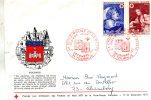 Enveloppe  Timbrée  1er Jour De La Croix-Rouge Et La Poste  Tournus  71  Le 11 -12 1971 - Journée Du Timbre