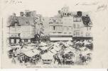 PONT AUDEMER PLACE VICTOR HUGO HALLE BOUCHERIE  (MARCHE BEAU PLAN ANIME) 1902 - Pont Audemer
