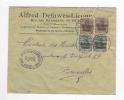 049/18 - Lettre TP Germania HUY 1917 Vers BXL - Censure HUY - Entete Defawes - Licour , Coiffeur , Postiches - Guerre 14-18