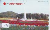 Télécarte Japon FLEUR * TULIPE (138) TULIP * TULP * TULPE * Flower * Phonecard Japan * TELEFONKARTE  BLUMEN - Blumen