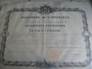 "RARE DIPLOME EPOQUE NIII , DATE , 16 AOUT 1857 , "" SOCIETES DE SECOURS MUTUELS "" - Antes De 1871"