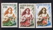 POLYNESIE 1958 60 JOUEUSE DE GUITARE 1 NSG 2 MNH 3MLH - Frans-Polynesië